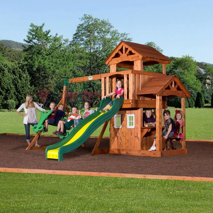 Backyard Discovery Tanglewood All Cedar Swing Set & Reviews | Wayfair