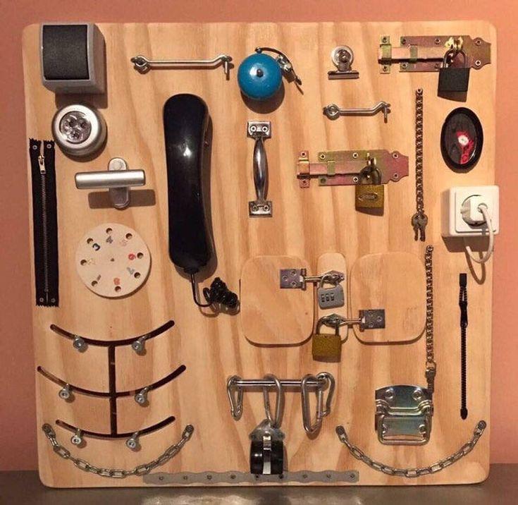 Tableau d'activités, tableau occupé, tableau sensoriel, jouet éducatif Montessori   – Artigianato