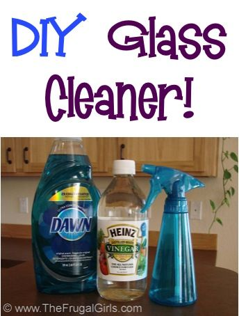 Homemade Glass Cleaner Recipe! This simple DIY solution saves SO much money, and works great on windows and mirrors!! | TheFrugalGirls.com