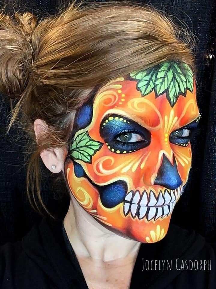 Pin By Pam Acha On Skulls Catrinas Face Painting Halloween Face Painting Face Art