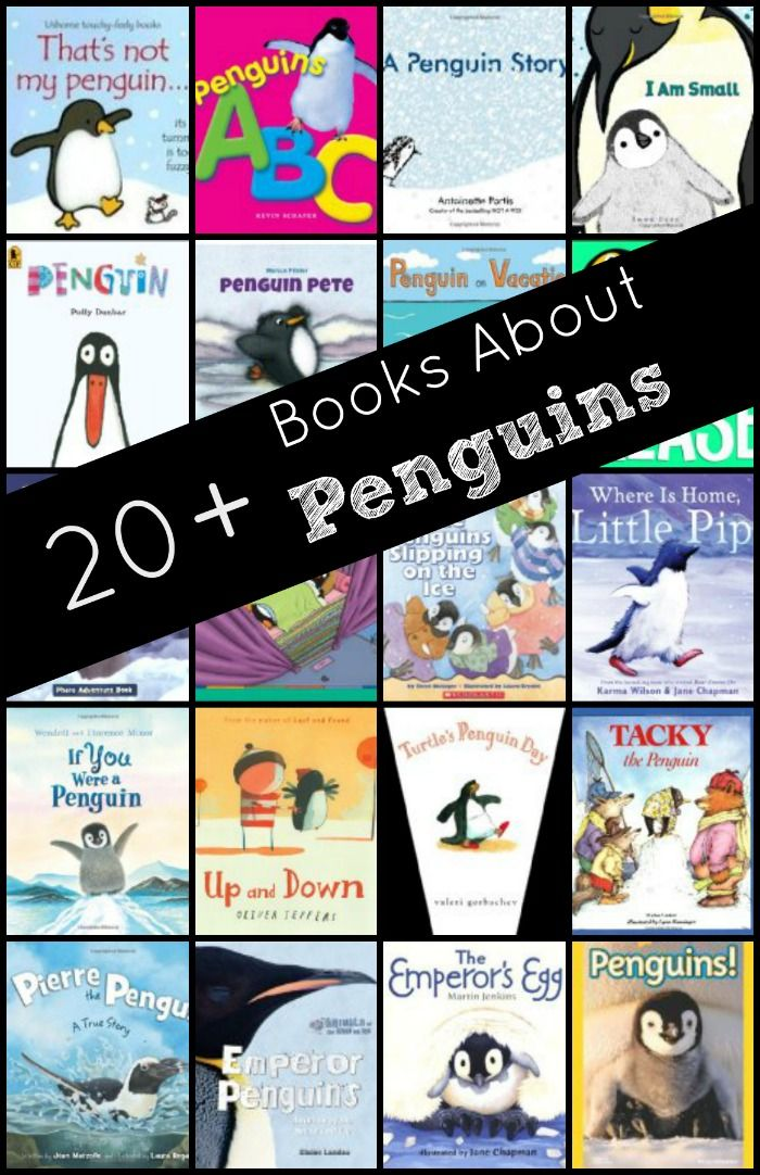 A list of over 20 books about penguins!