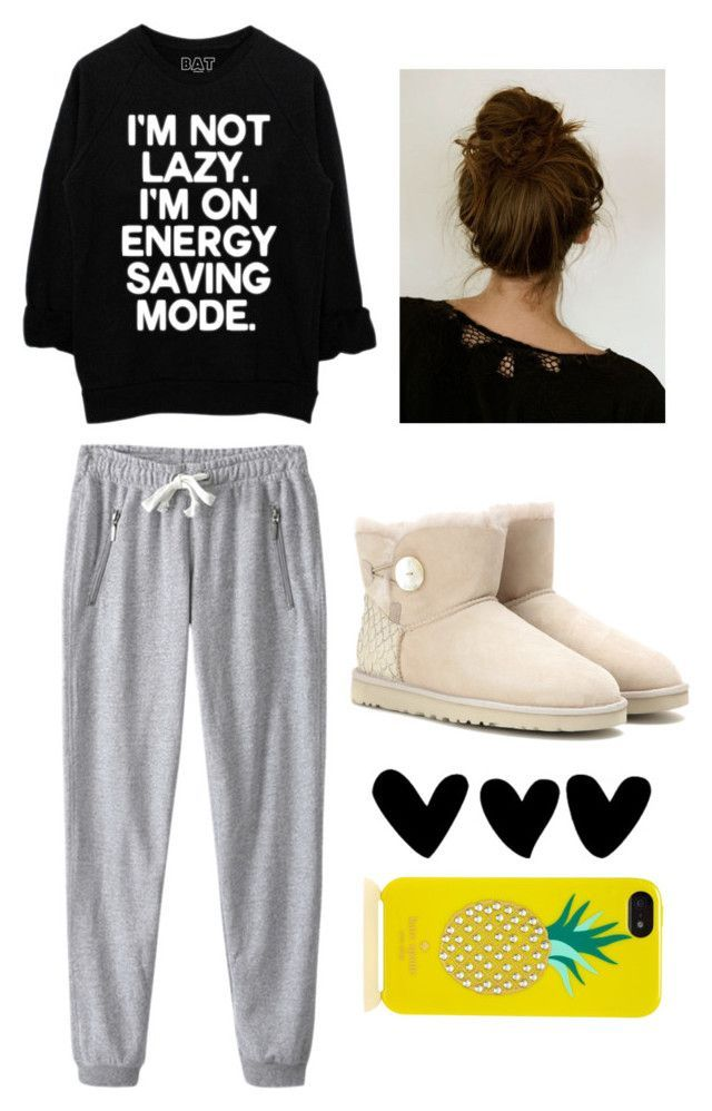Lazy day outfit by tumblr-insta-styles ❤ liked on Polyvore featuring UGG Australia and Kate Spade