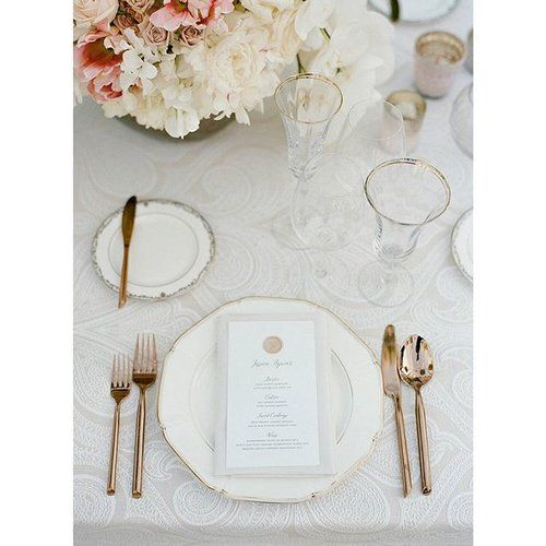 Elegant classic white tablescape with wax seal menus created for an event with Simone Lennon Events. | Floral by Natasha of Waterlily Pond Studio. | Photo by Sylvie Gil.  CREATIVE TEAM  @yonderdesign @sylviegil  @simonelennonevents @waterlilypond @thevintageestate  @latavolalinen  TAGS  #yonderdesign #simonelennonevents #napawedding #whitewedding #placecard #stunning #wedding  #thevintageestate #waterlilypond #weddingmenu #menu #tablescape #tabledesign #waxseal
