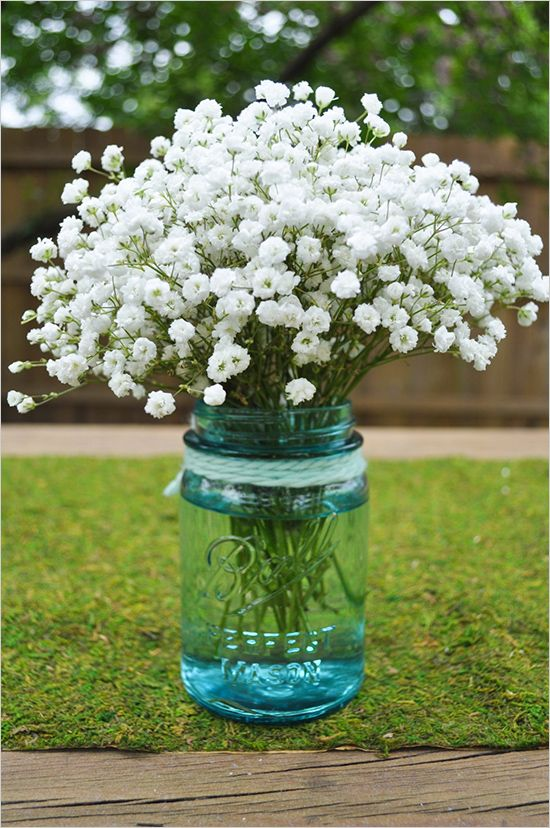 simple baby breath floral arrangements