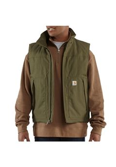 Carhartt Mens Quick Duck Woodward Army Green Vest | Buy Now at camouflage.ca