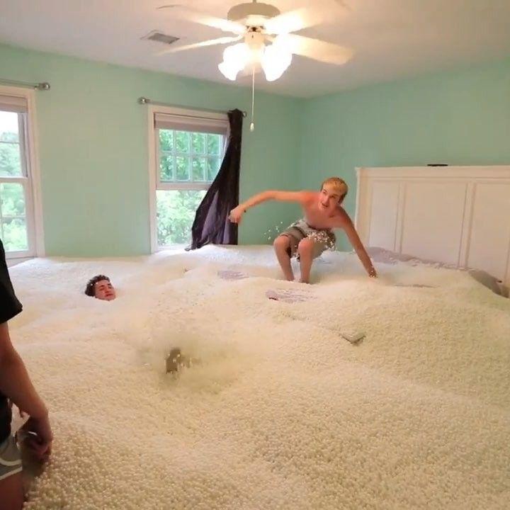 Entire Room Full Of Beanbag Beads Prank Tanner Braungardt