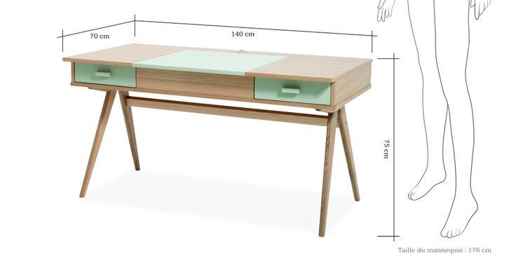 Stroller, un bureau vert opaline   made.com