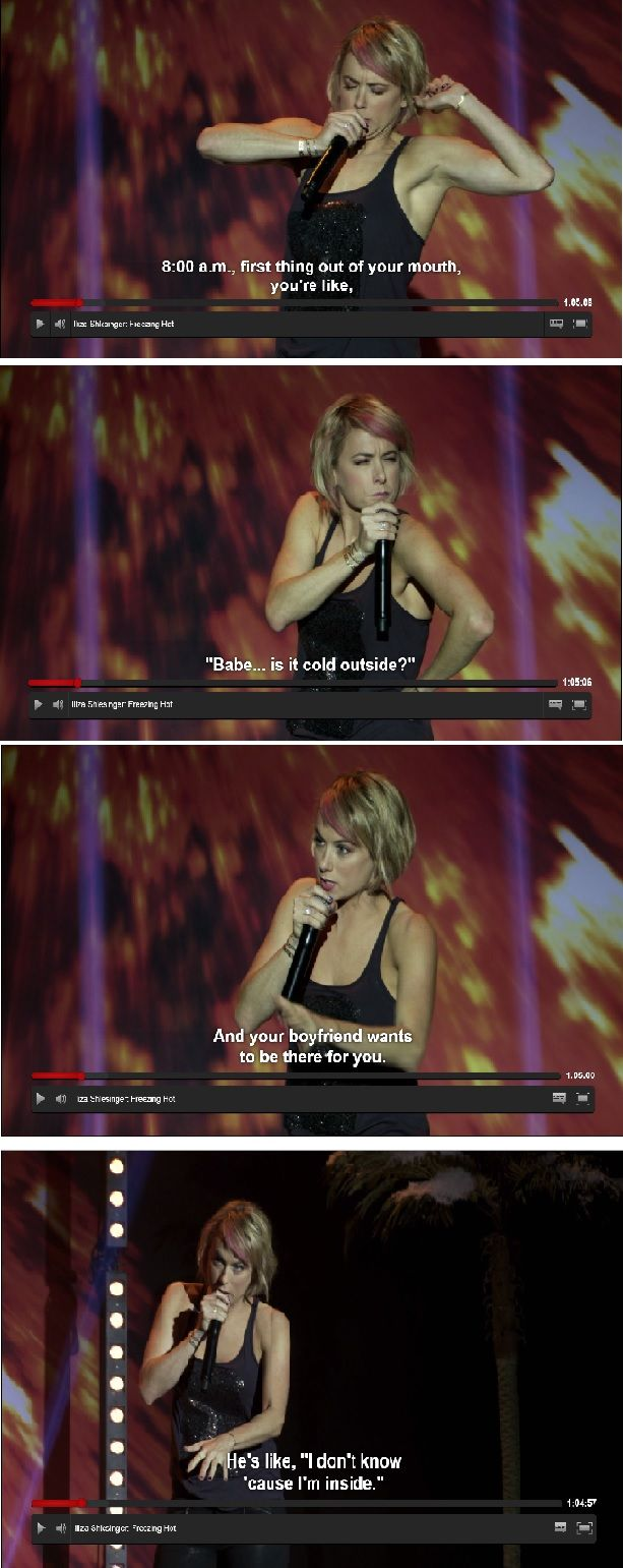 Iliza Shlesinger. Freezing Hot. Stand Up Comedy. Is it cold outside?