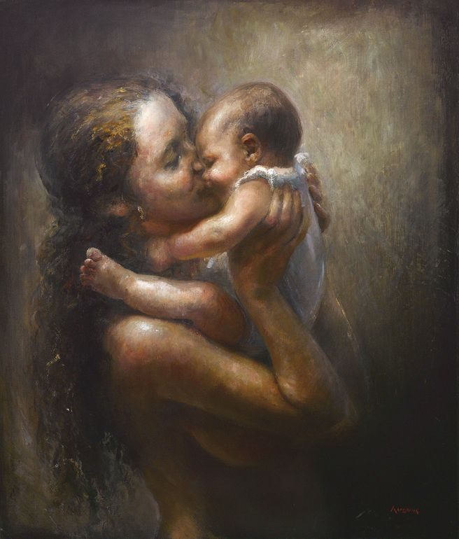 Lullaby Jonny Andvik   Mother and child painting, Art, Painting