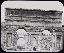 Glass Magic Lantern Slide PORTA MAGGIORE C1890 ROME PHOTO ROMA PHOTO