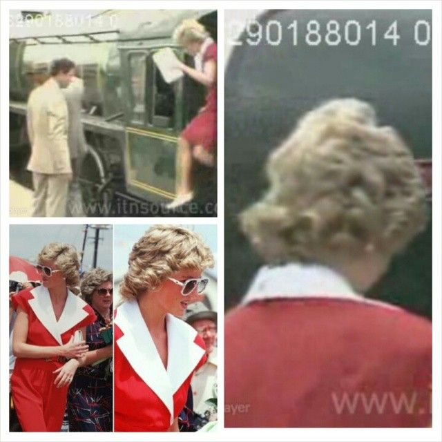 """""""On January 29th 1988 Prince Charles and Princess Diana continued their royal tour of Australia, visiting the port of Goolwa. On their start of their journey at Victor Harbour, Charles and Diana rode aboard 'The Duke Of Edingburgh' vintage steam train. The next stop was the opening of the Signal Point Tourism Centre, providing cultural information on the history of the area. Diana looked extremely uncomfortable in the 103 degrees heat, and it was reported in the"""