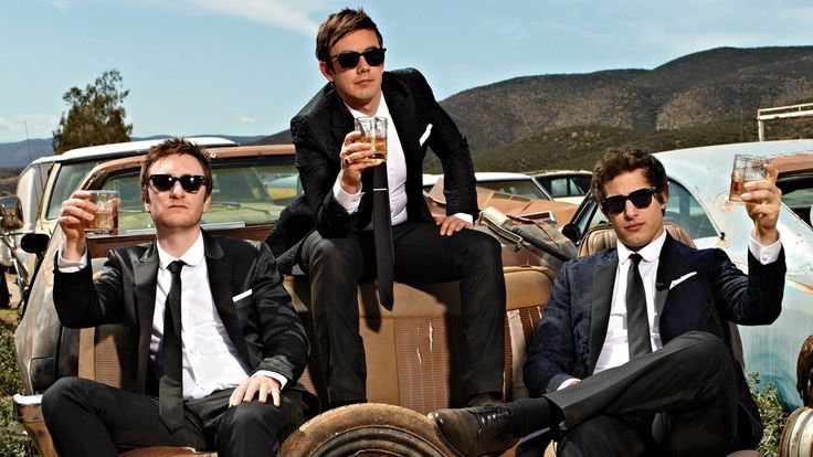 My favourite singing group: The Lonely Island Group members (Left to right): Akiva Schaffer, Jorma Taccone and Andy Samberg
