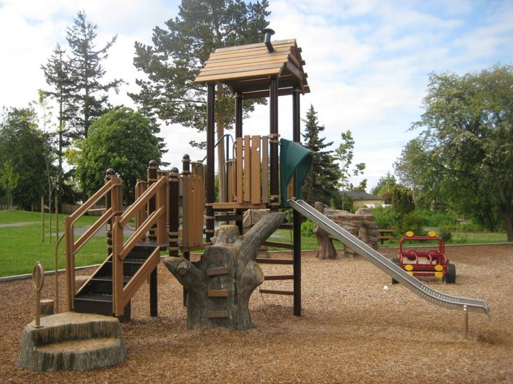 Browning Park - Habitat Systems #natural #treehouse #kids #play #playground