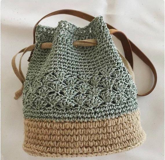 Bohemian Crochet Tote Bag