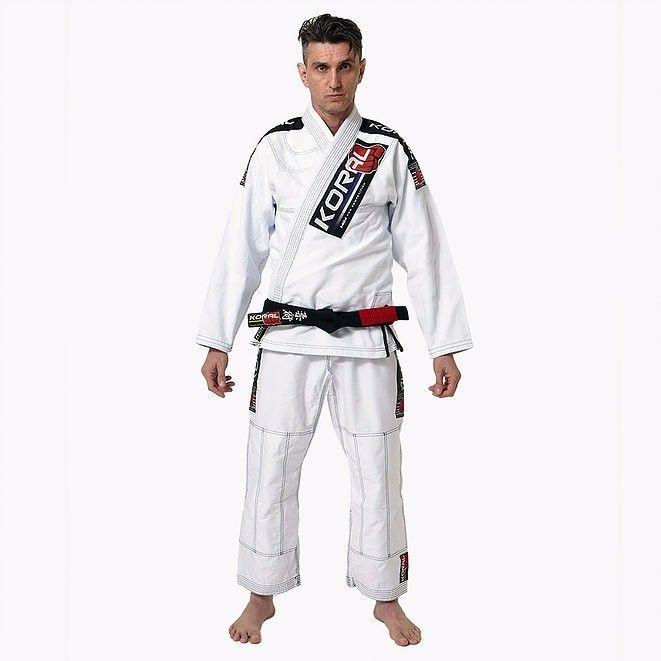Jiu-jitsu Uniform KORAL MKM Competition Jiu jitsu GI White BJJ Brazilian Brazil #Koral