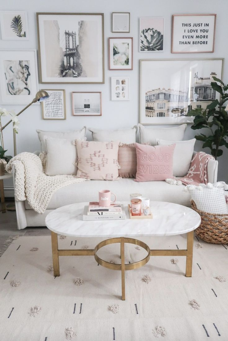 10 Most Popular Pink And Gold Living Room Ideas
