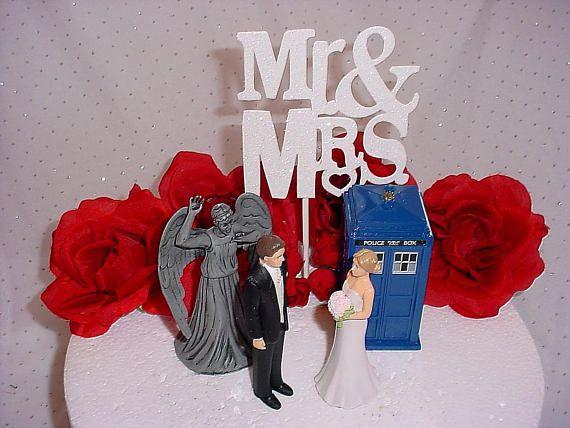 Dr Who Wedding Cake Toppers Whovian Tardis Police Call Box