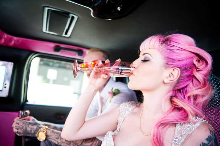 Breaking Vegas: Punk Rock Wedding at The Flamingo · Rock n Roll Bride
