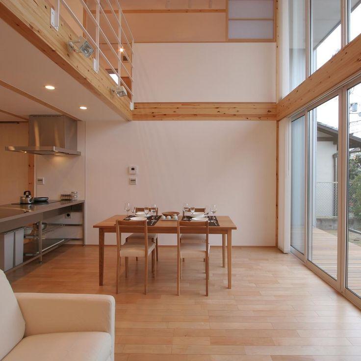 無印良品の家 京都南店「木の家」モデルハウス。  #無印良品 #無印良品の家 #戸建て #注文住宅 #吹抜け #マイホーム #木の家 #ダイニング #キッチン #暮らし #シンプルライフ #インテリア #ウッドデッキ #京都  #muji #mujihouse #room #house #home #homedecor #casa #interior #interiordesign #design #simple #minimalist #kitchen  #diningroom #furniture #japan