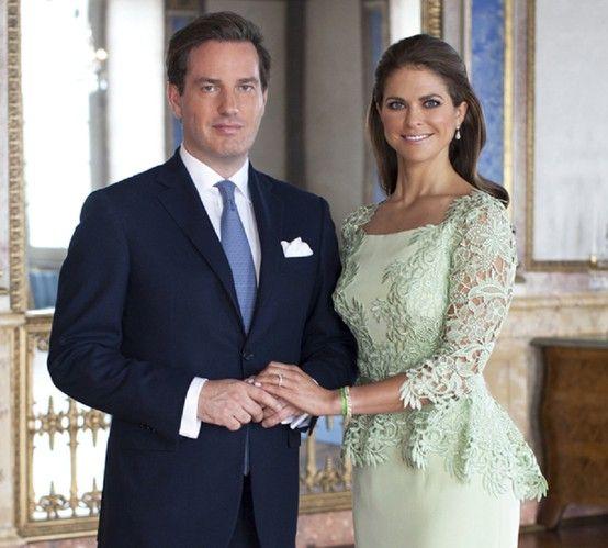 Princess Madeleine glows in new portrait with fiancée Chris O'Neill