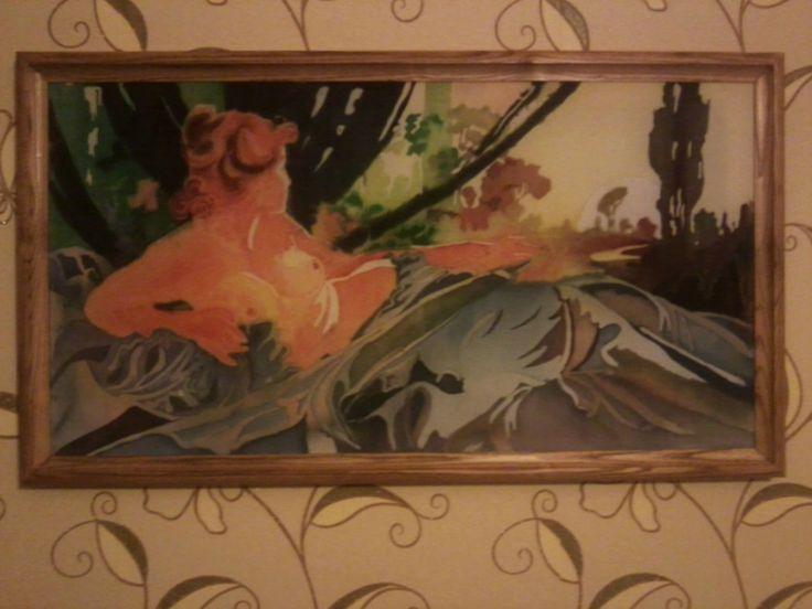 мой вариант работы художника Аль Муха в виде горячего батика