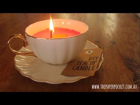 Mother's love tea and candles, so why not make a unique DIY Tea Cup Candle for her this Mother's Day?