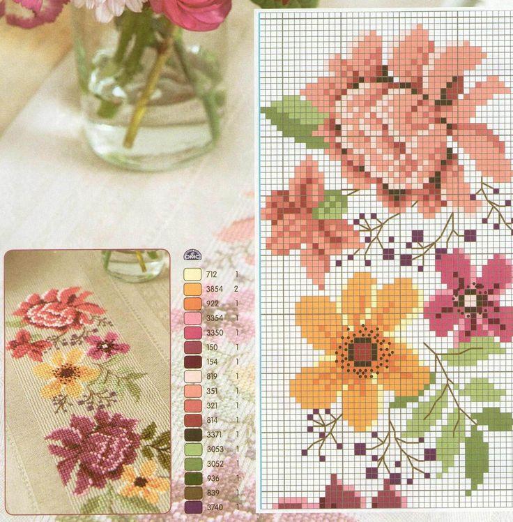 Цветочный венок на скатерти — HandMade