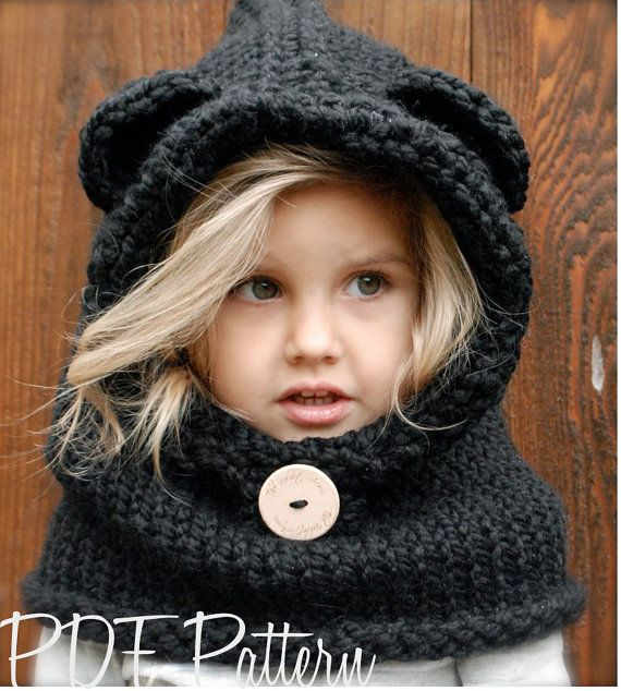 KNITTING PATTERN  Burton Bear Cowl 6/9 month  by Thevelvetacorn, $5.50