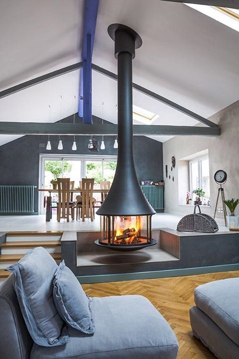 indoor fireplaces metal fireplace design fire places homes lofts side house steel house plans