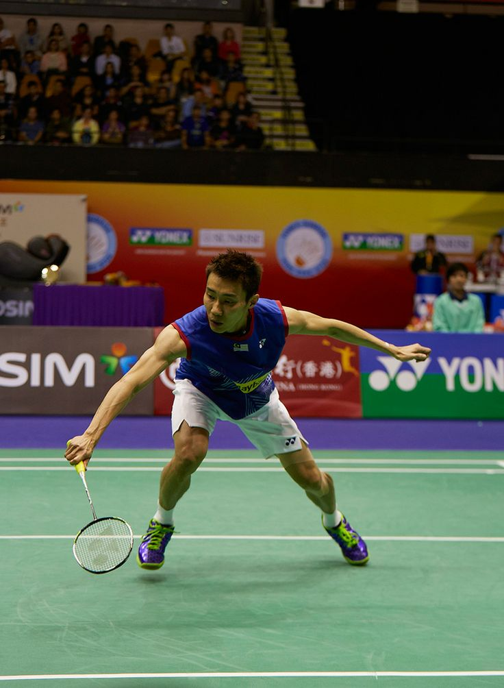 Lee Chong Wei plays a match during the 2013 BWF World Superseries Finals