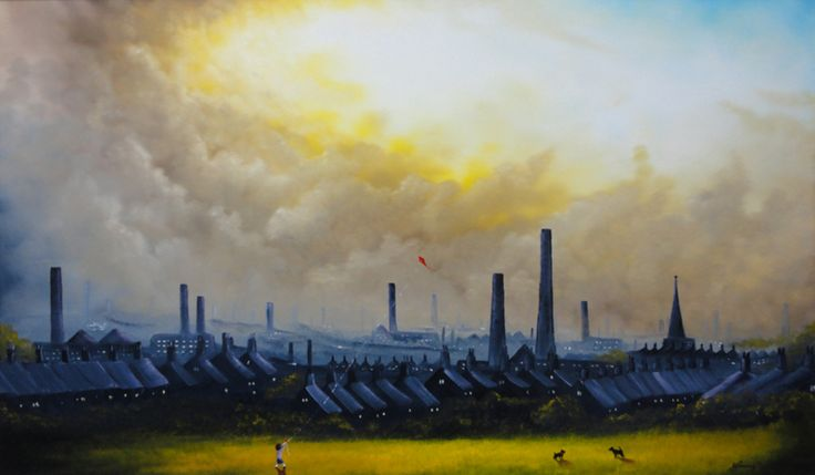 The Stand Off Danny Abrahams Yorkshire Artist