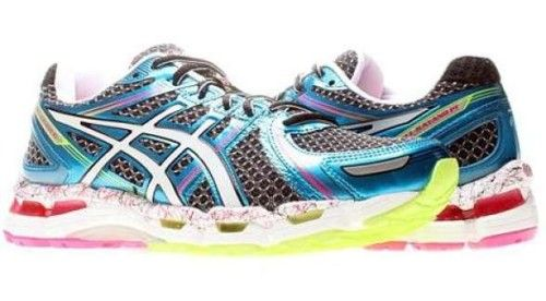 Running shoes - Womens Asics Kayano 19 - crazy neon colors