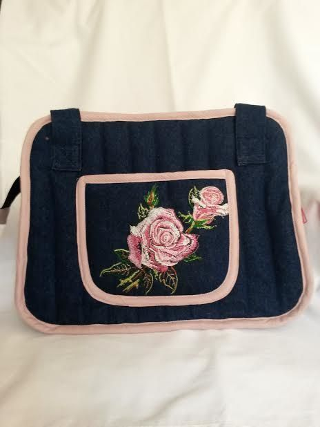 """All motifs are done by hand using """"free"""" embroidery"""