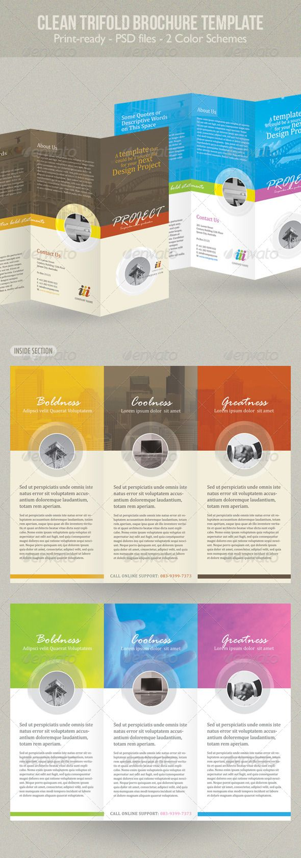 Clean Trifold Brochure Template - More info on how to get the template can be found here: http://graphicriver.net/item/clean-trifold-brochure-template/234251?r=kinzi21