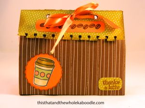 Simple and easy gift bag:thisthatandthewholekaboodle.com