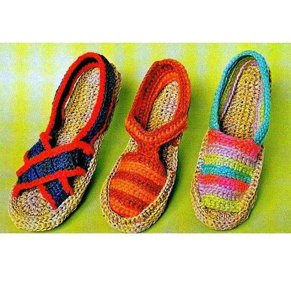 Espadrilles Sandals: vintage pattern for sale