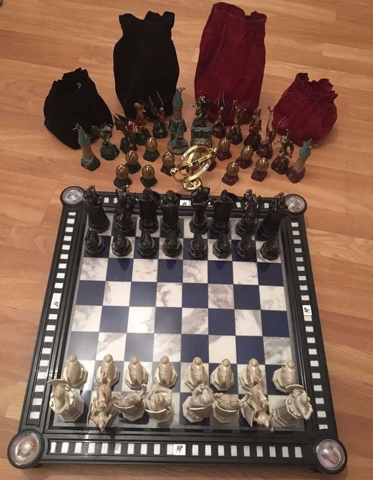 17 Best Ideas About Harry Potter Chess Set On Pinterest