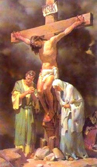 St. John was the only Apostle at the foot of the cross consoling our Mother.