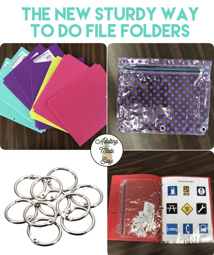 #specialeducation #transition #classroomorganization #filefolder #independentwork #filefolders #vocational #lifeskills #worktask #laminate #velcro #deskwork