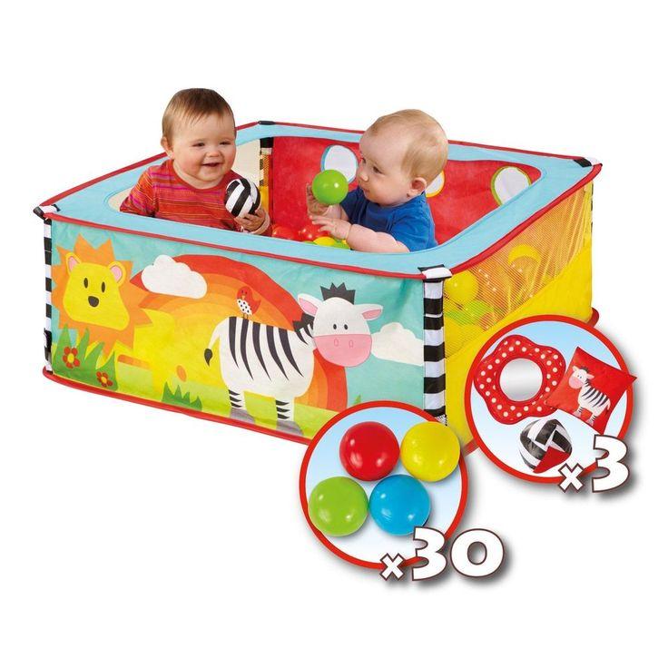 Toddler Sensory Ball Pit Safari Square Animal Play Set 30 Ball Children Kid Toys