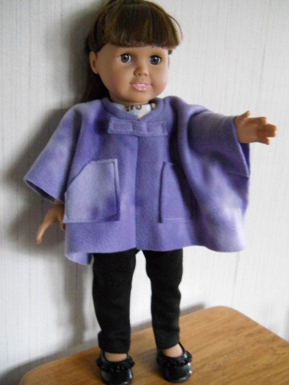 18 Quot Doll Fleece Tie Dye Poncho For American Girl Type