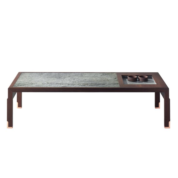 GAIA low table with recessed tray