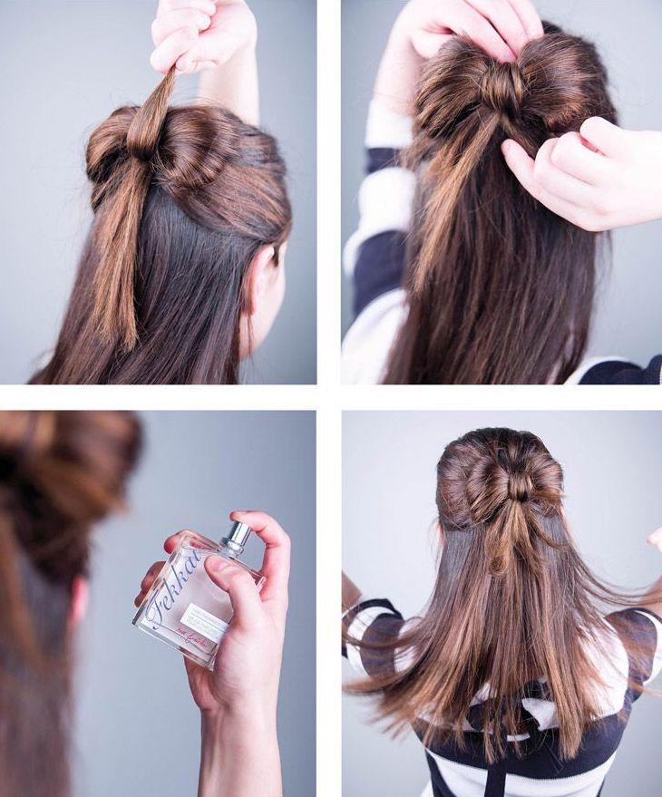"""awesome 50 Идей как сделать прическу """"бант из волос"""" пошаговая инструкция"""
