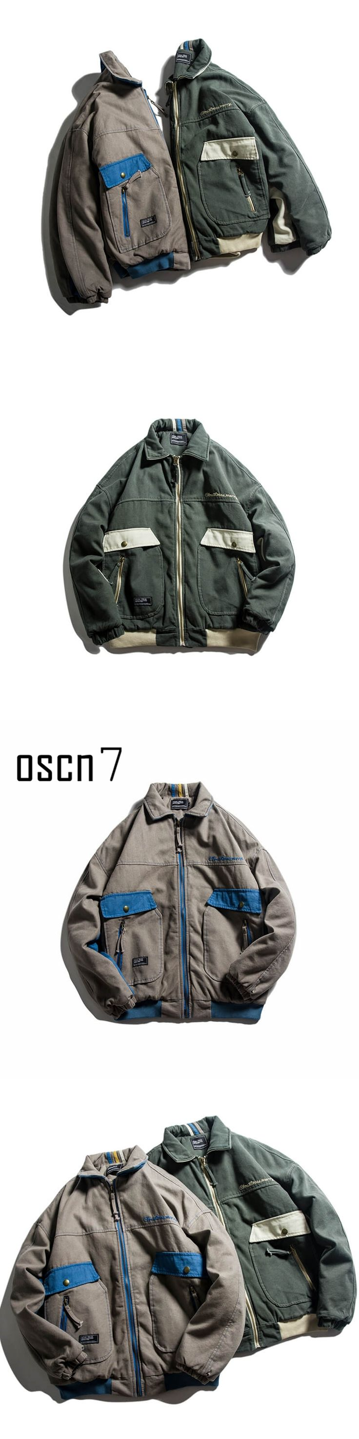 OSCN7 Winter Fashion Retro Bomber Jacket Parka Men 2017 New Bombers Military Army Parka Men Thick Warm Parka Men