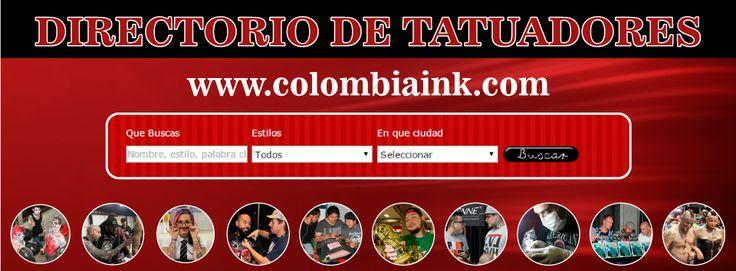 DIRECTORIO DE TATUADORES http://www.colombiaink.com/ ------------------------------------------------ Entra a nuestra página web y por medio del buscador pueden encontrar un tatuador en tu CIUDAD y en el ESTILO de tatuajes que selecciones, o bien encuentralo por nombre o apellido en la primera casilla. #Tatuaje #Colombia #Tatuadores #Directorio #Colombiaink