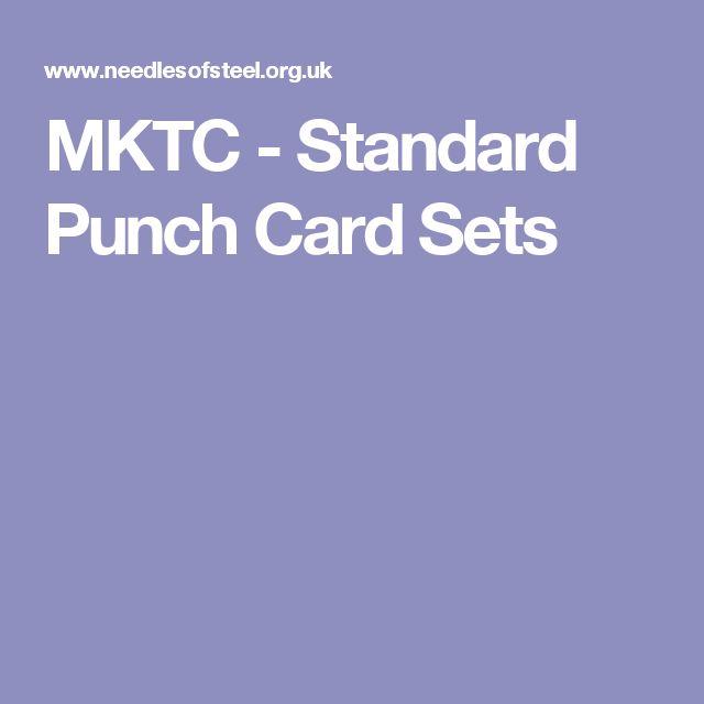 MKTC - Standard Punch Card Sets