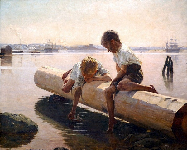 Finnish Painter: Albert Edelfelt (1854 – 1905), 'The Little Boat'
