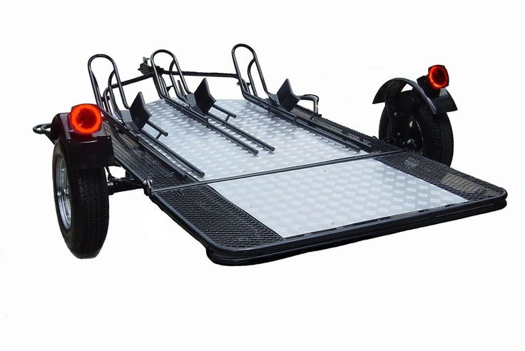 Trinity 3 Rail Motorcycle Trailer | The USA Trailer Store
