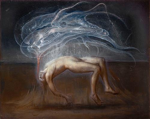 Rapture (Ganimede) 2012 olio su lino cm 180 x 230