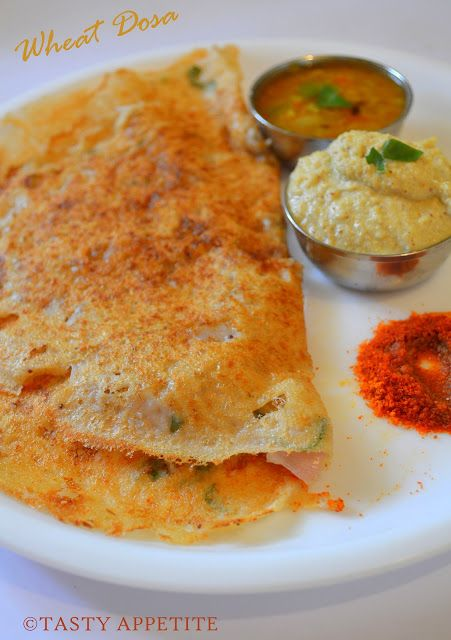Tasty Appetite How to make Wheat Dosa / Godhumai Dosai